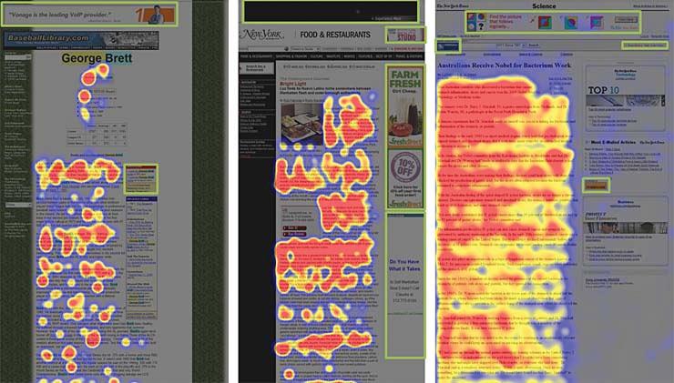 Reklama zabija prawą część strony internetowej.