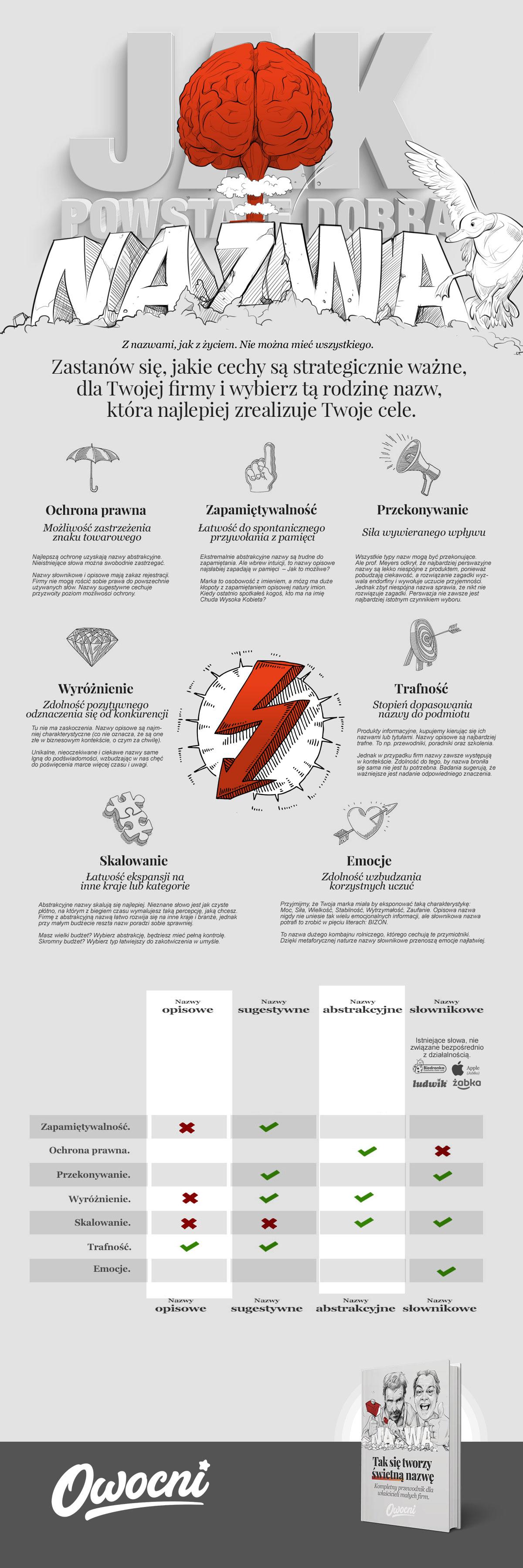 Infografika pomagająca stworzyć najlepsze nazwy firm