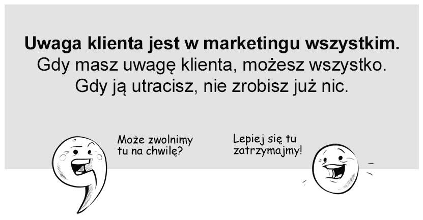 Tekst reklamowy musi przyciągać zainteresowanie grupy docelowej